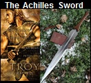 Handmade Achilles Sword.  Influenced from the movie Achilles. Picture - Link to more pictures, prices,and detailed descriptions