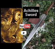 Achilles sword influenced from the movie Troy youtube video picture.  Link that takes you to more pictures and demonstrations of this 