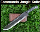 Handmade Commando Jungle Knife Picture - Link to more pictures, prices,and detailed descriptions.