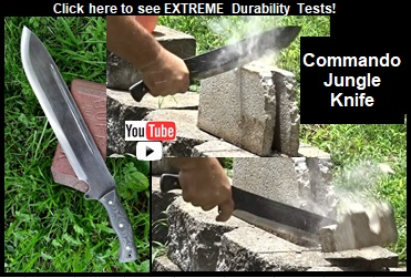 Commando Jungle Knife Extreme Duribility YouTube Video Picture Link