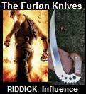 Handmade Furian Knives – Influenced from the Movie Chronicles of Riddick. Picture - Link to more pictures, prices,and detailed descriptions