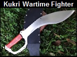Handmade Kukri Wartime Fighter Knife Picture - Link to more pictures, prices,and detailed descriptions.