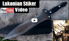 Lakonian Striker Sword Youtube Video Link Picture