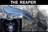 Handmade The Reaper Kukri. Picture - Link to more pictures, prices,and detailed descriptions.