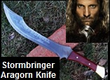 Handmade Stormbringer Aragorn Knife from Lord of the Rings. Picture - Link to more pictures, prices,and detailed descriptions
