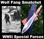 Handmade Wolf Fang Smatchet Short Sword.  used by British and American Special Forces in World War II. Picture - Link to more pictures, 