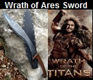 Handmade Wrath of Ares Falcata Sword.  Influenced from the movie Wrath of the Titans. Picture - Link to more pictures, prices,and 